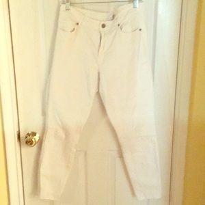 Loft White denim curvy skinny jeans